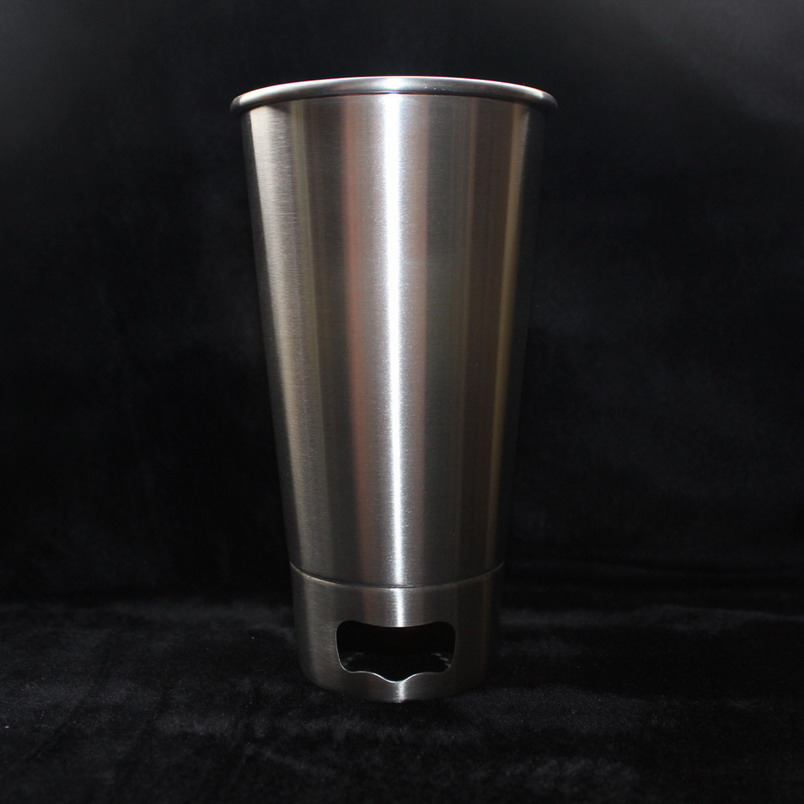 500ML 304 Stainless Steel Cups With Bottle opener Juice Beer Glass Portion Cups 16oz Tumbler Pint