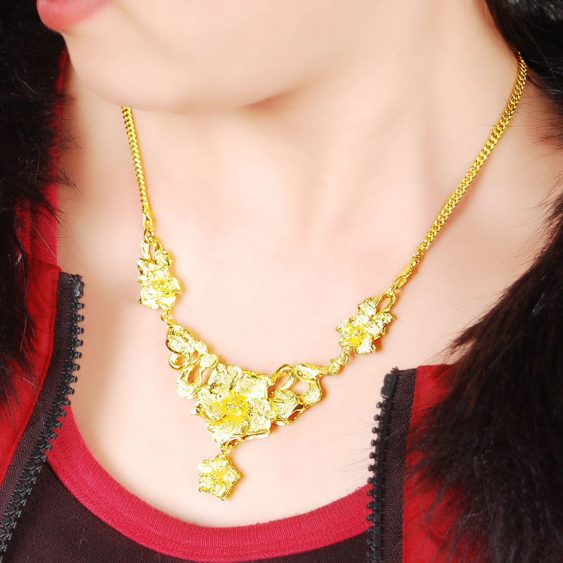 Wholesale Special Design 24k Gold Flower and Leaves Pendant ...