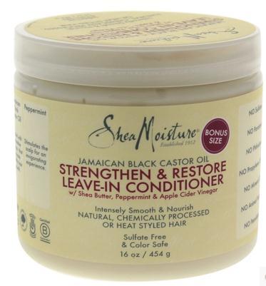 SheaMoisture natural Shea Butter black castor oil anti breaking conditioner 453ml