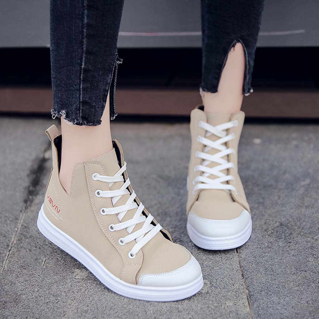 YOUYEDIAN Sneakers Women 2018 Cotton Patform Women Sneakers Fashion Lace Up  Solid Women Casual Shoes Chaussures c8ba6807a019