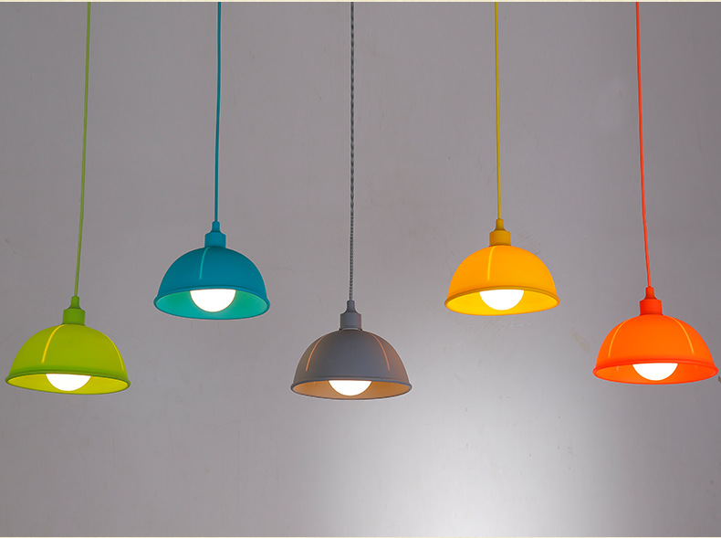 Colorful Silica Gel Rubber Ceiling Lamp Children Bedroom Pendant Light Cafe Bar Coffee Shop Hall Store Club Bedside Droplight 32cm vintage iron pendant light metal edison 3 light lighting fixture droplight cafe bar coffee shop hall store club