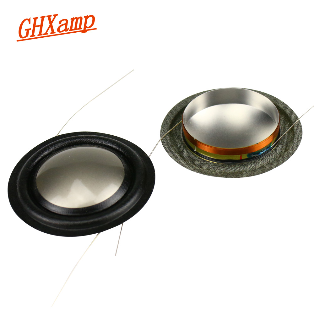 GHXAMP 25.9mm Tweeter Voice Coil Titanium Film 8ohm Speaker Repair Parts 26 Core For B&W Speaker Copper Clad Aluminum Coil 2PCS