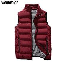 39a89cf35739 Повседневный жилет Для мужчин осень-зима куртки толстые жилеты человек  Пальто без рукавов мужской теплый