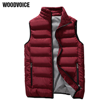 Casual Vest Men Autumn Winter Jackets Thick Vests Man Sleeveless Coats Male Warm Cotton-Padded Waistcoat men gilet veste hommes(China)