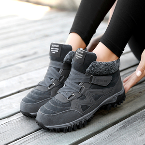 Image 4 - TUINANLE  2020 Winter Boots Warm Snow Boots Waterproof Cow Suede Shoes Female Ankle Platform Boots Plus Size Combat Boots Women