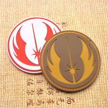 Military Patches Star Wars Jedi Order Galactic Republic Patch 3D PVC Rubber Tactical Badges for Clothes with Hook & Loop