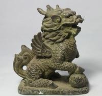 """7 """"Chińska Ludowa Feng Shui Brąz Mandarin Duck Dragon Phoenix Statua Rzeźby w Posągi i rzeźby od Dom i ogród na"""