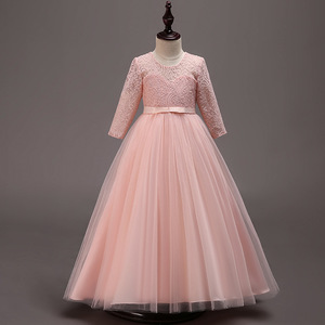 Image 5 - 새로운 어린이 결혼식 신부 들러리 파티 드레스 소녀의 생일 파티 성능 공 아름다움 파티 드레스 vestidos de fiesta