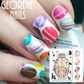 1 Sheet BORN PRETTY Doughnut Dessert Nail Art Water Decals Transfer Sticker BPY26