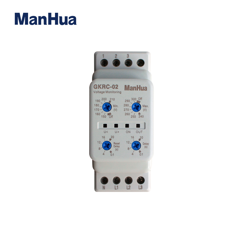 ManHua Device Relay AC GKRC-02 Protective Voltage Relay With Low Power 3 Phase Sealed Voltage Monitoring RelayManHua Device Relay AC GKRC-02 Protective Voltage Relay With Low Power 3 Phase Sealed Voltage Monitoring Relay