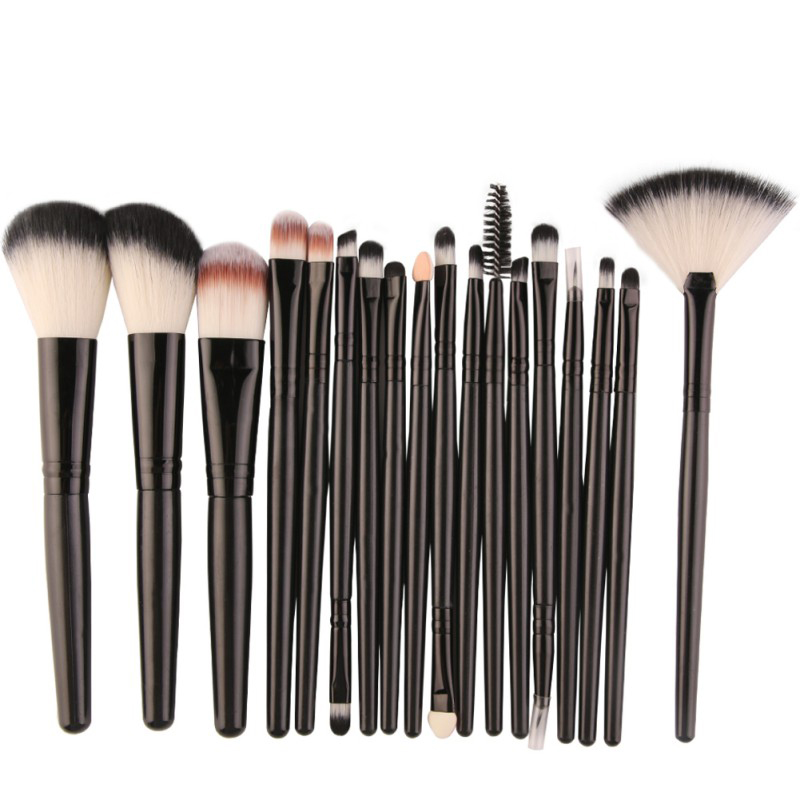 MAANGE Pro 18Pcs Makeup Brushes Set Powder Foundation Blush Eyeshadow Eyeliner Lip Beauty Make up Brush Tools maange 22 pcs pro makeup brush kit powder foundation eyeshadow eyeliner lip make up brushes set beauty tools maquiagem
