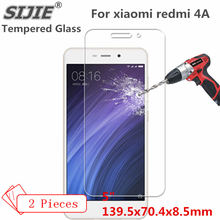 2PCS Tempered Glass For xiaomi redmi 4A cover redmi4A PRIME Screen mi protective 5 inch smartphone toughened case 9H on crystals(China)