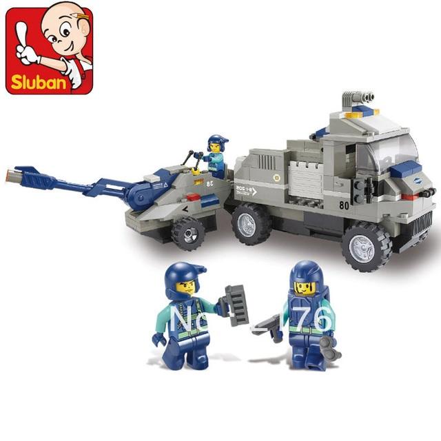 Sluban 232pcs/set Children's DIY artilley tractor plastic military army block toys. Free shipping !