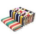 Nice Mixed colors Women's medium-long wallet female stripe wallets candy pu leather purse decoration card holder coin purse W176