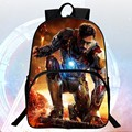 Retail  2016 New Style Polyester Printing Avengers Black kindergarten  Schoolbag Children School Backpack Boys Mochila