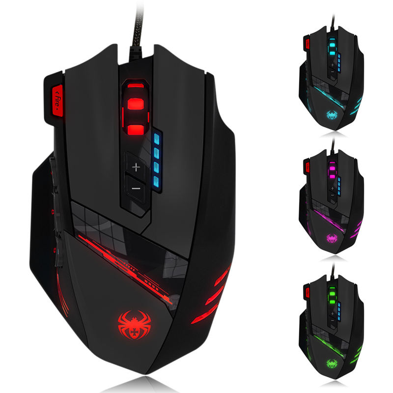 C12 Wired Gaming mouse Optical macros professional Gamer USB Game Mouse Mice 4000 DPI Gaming mouse For Laptop Desktop PC Mause mosunx e5 mecall promotion 2400dpi led optical 6d usb wired gaming game mouse pro gamer computer mice for pc whoelsale