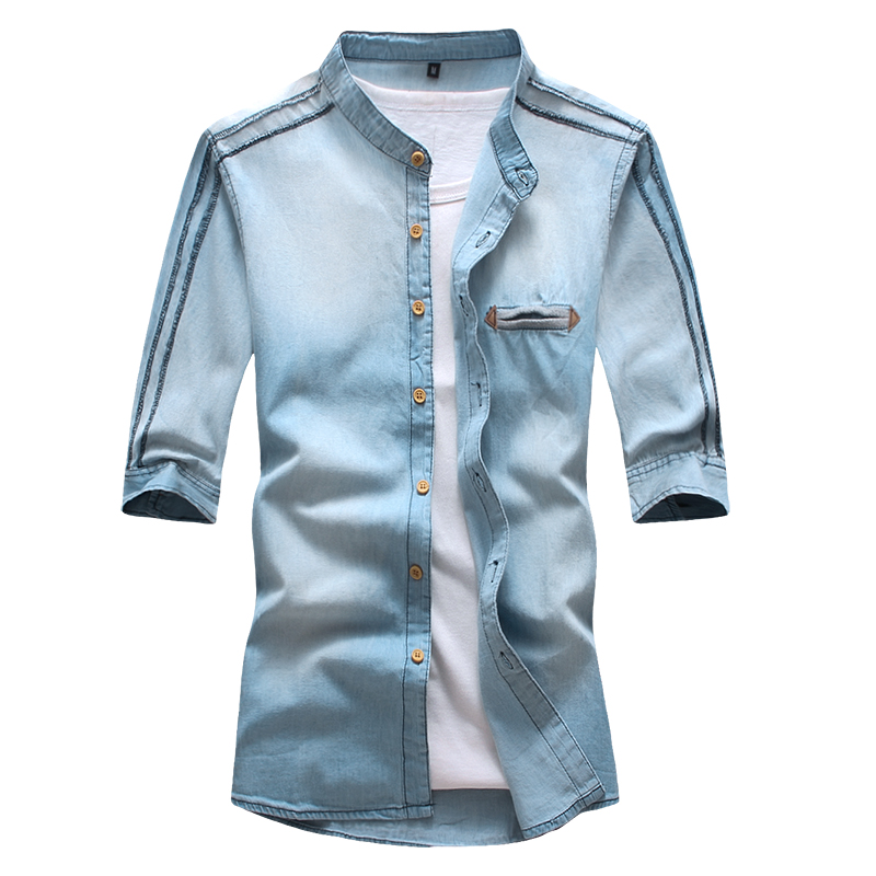 Popular Light Blue Shirt Men Buy Cheap Light Blue Shirt