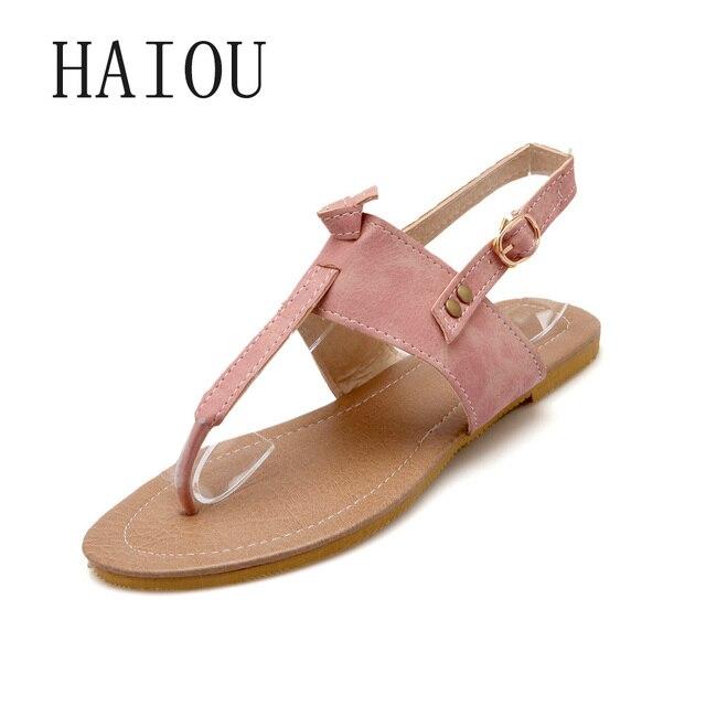 9cdf78b08cf6 New 2017 Fashion Flat Sandal Stylish Pink Thong Sandal for Girls Beach  Beautiful Shoes Woman Sandals Flat with Flip Flop Blue