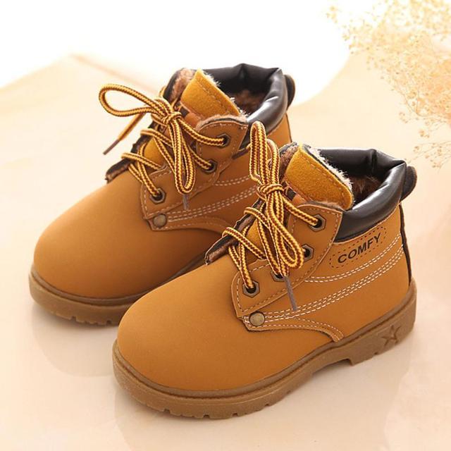 vente chaude en ligne 7632d e17be € 8.5 11% de réduction|Comfortable enfants mode bébé fille bébé chaussures  hiver bébé enfant armée Style Martin botte chaussures chaudes bas anti ...