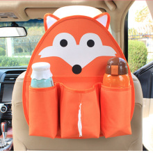 Oxford Cartoon Car Organizer For Kids Water Bottle Tissue Pocket