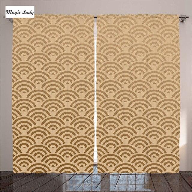 woonkamer gordijnen elegante slaapkamer oosterse hedendaagse illustratie royal patroon franse beige 2 panelen set 145