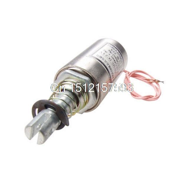 10mm Stroke Push Type Tubular Solenoid Electromagnet DC 24V Gjzbz dc24v 1a 10mm stroke 150g froce spring load electric solenoid electromagnet xwj
