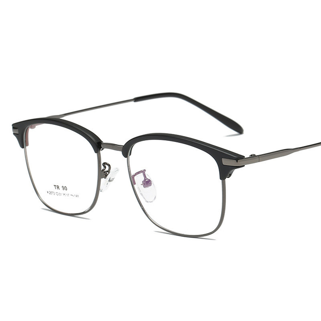 1b89e77b9a5 Metal Frame Men Fashion Square Reading Myopia glasses Male Transparent Optical  Eye Glasses eyeglasses frame women Casual 223