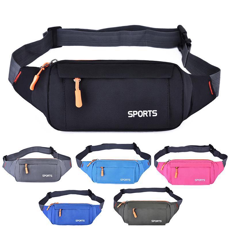2019 NEW Pink Chest Bags Waist Pack Women Running Waterproof Waist Bag Mobile Phone Holder Men Gym Fitness Travel Pouch Belt