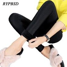 2017 Autumn Winter Skinny Velvet Leggings Women Plus Size Fleece Warm Thick Casual Slim Stretch High Waist Black Legging Femme