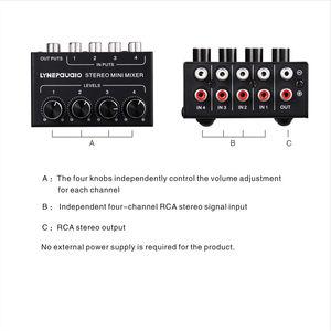 Image 5 - Nobsound Mini Stereo RCA 4 kanallı pasif karıştırıcı kayıpsız ses canlı ve stüdyo siyah