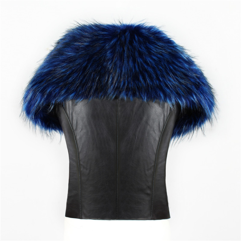 2018 spot fashion Europe and America party high-end fox fur faux fur vest elegant elegant fur (3)