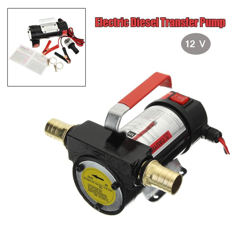WOLIKE un ensemble 12 V Kit de pompe de transfert électrique Portable extracteur de fluide Kit de pompe de transfert d'huile automatique Plubing