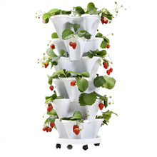 Three-dimensional Flower Pot Strawberry Basin Multi-layer Superimposed Cultivation Vegetable Melon Fruit Planting Decoration