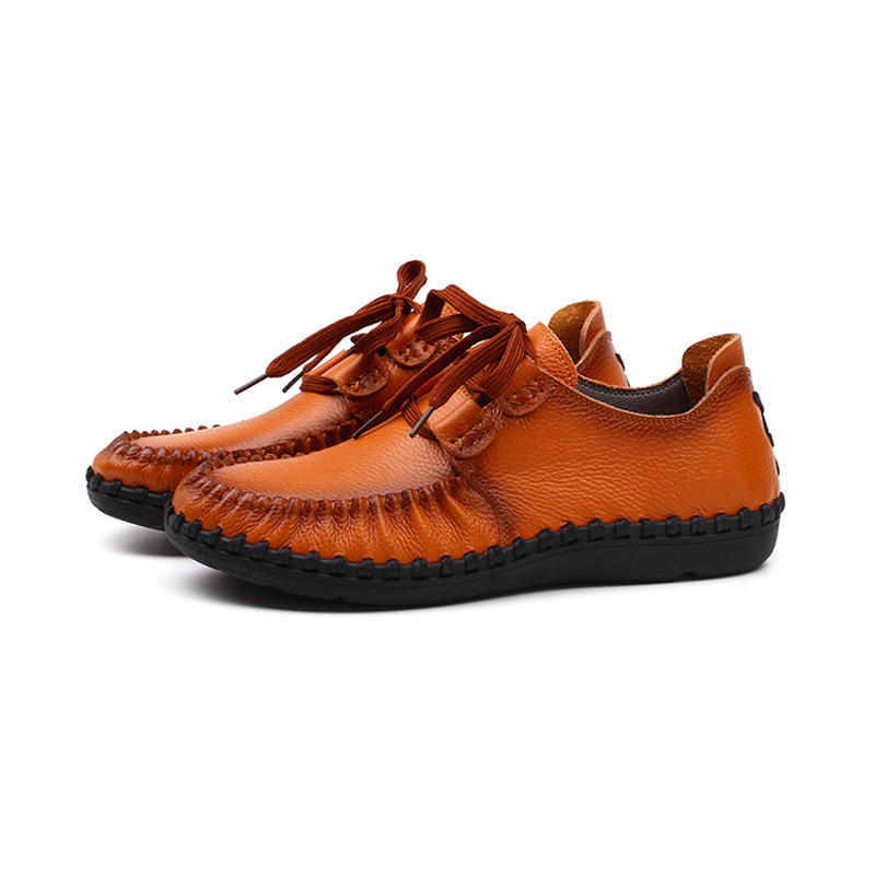 ФОТО 2016 autumn new men's fashion casual leather shoes breathable first layer of leather sewn shoes