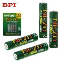 4 stücke! BPI 1,6 V 1000mAh AAA Akku NiZn Ni-Zn LSD AAA Batterie mit 10A Strom Entladung für spielzeug Kamera Scheinwerfer