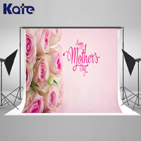 Kate Happy Mothers Day Photography Backdrops Pink Flower Wood Background Spring Photography Backdrops Large Size Seamless Photo