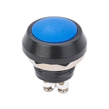 (50 pieces/lot) 12MM Miniature Blue Panel Sealed Push Button Switch made of Zinc Alloy Waterproof