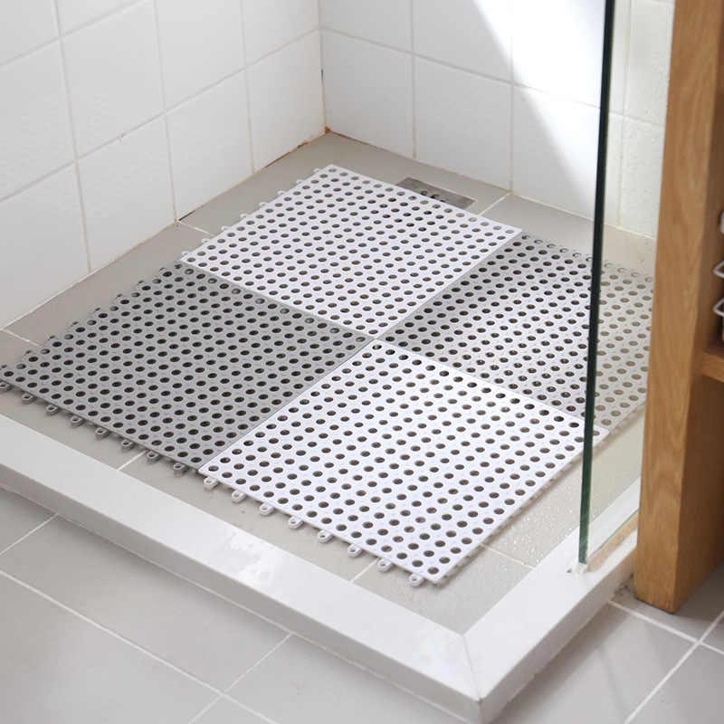 Wysokiej jakości 30 cm X 30 cm łączone mata kąpielowa PCV Batoom toaleta kuchnia wody w basenie dowód spustowy antypoślizgowa mata Hollow się dywaniki
