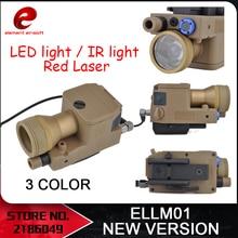 องค์ประกอบAirsoft ELLM01 อาวุธใหม่รุ่นเต็มอเนกประสงค์รุ่นIRสีแดงเลเซอร์LED Light EX214 ใหม่รุ่น