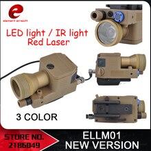 Eleman Airsoft eLLM01 silah ışık yeni sürüm tam fonksiyonel sürüm IR kırmızı lazer LED ışık EX214 yeni sürüm