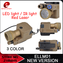 Element Airsoft eLLM01 Waffe Licht NEUE VERSION Voll Funktions Version IR Rot Laser LED Licht EX214 NEUE Version