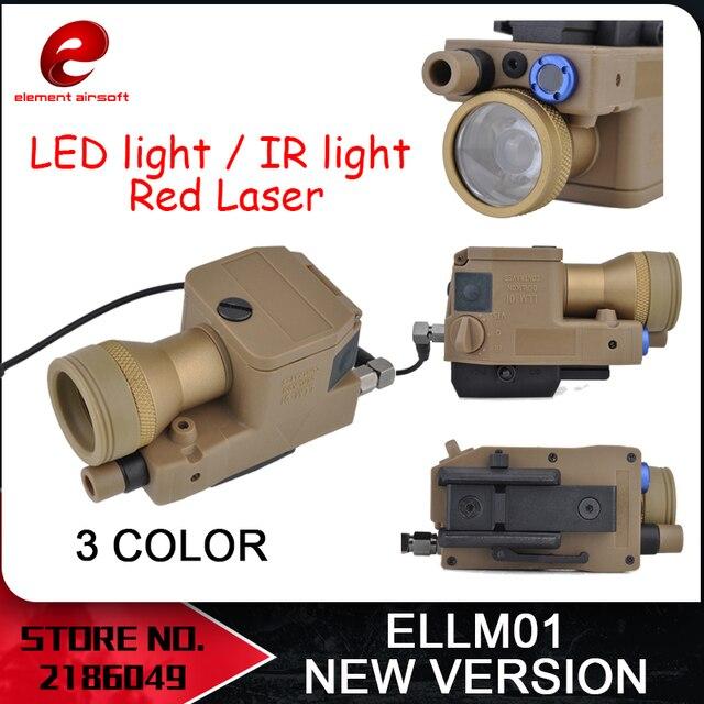 Element Airsoft eLLM01 broń lekka nowa wersja w pełni funkcjonalna wersja IR czerwone światło laserowe LED EX214 nowa wersja