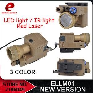 Image 1 - を要素エアガンeLLM01 武器ライト新版、完全に機能バージョンir赤色レーザーledライトEX214 新バージョン