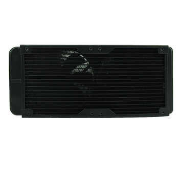 G1/4 240mm 2 Fans Radiator Computer Desktop Water Cooling Aluminum Thick 60mm Drop Shipping