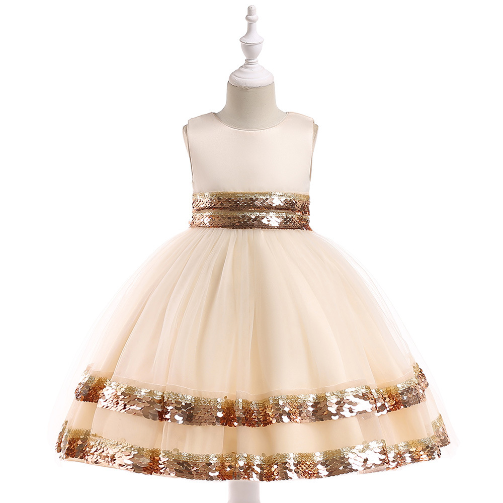 2019 Hot Sale Cheap   Flower     Girl     Dresses   Shinny Sequined Communication   Dress   For Wedding Party