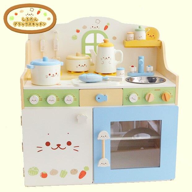 Деревянный Кухонные игрушки набор детей Ролевые игры Кухонные игрушки ребенок многофункциональные развивающие Игрушечные лошадки подаро