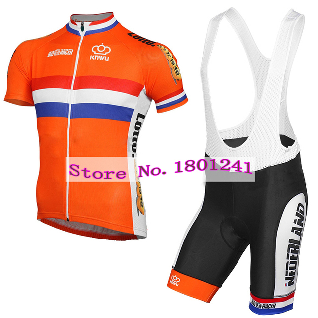 1b0274ea3 2017 cycling jersey clothing wear orange dutch Holland Netherlands riding  racing pro team black gel pad quick dry ropa ciclismo