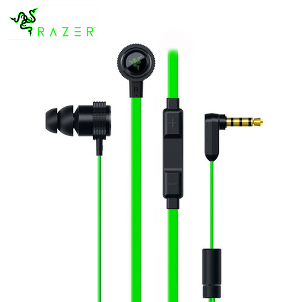 Razer Hammerhead V2 Earphones Flat Style 1.3m Cables 10mm Drivers Gaming Earphone Noise Cancelling Earbud Stereo Music Earphones