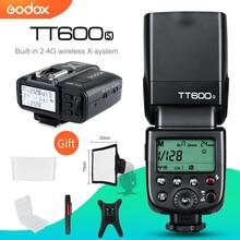 Godox transmisor Flash para cámara, TT600s HSS GN60 2,4G, Speedlite + X1T S, para Sony A7, A7S, A7R, A7 II, A6000, A58, A99