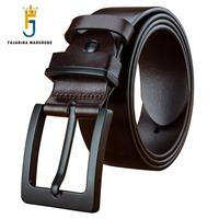 FAJARINA Top Quality Cow Genuine Leather Belts Casual Design Pin Buckle Belt for Men Strap Male Accessories Packing Box FJ18024